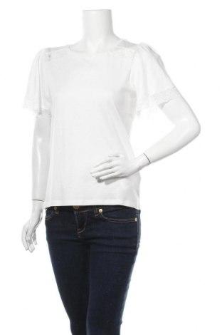 Дамска блуза Naf Naf, Размер M, Цвят Бял, 50% памук, 50% модал, Цена 34,50лв.