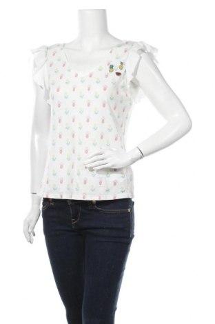 Дамска блуза Naf Naf, Размер M, Цвят Бял, 50% памук, 50% модал, Цена 31,50лв.