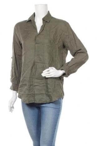 Дамска блуза New Look, Размер XS, Цвят Зелен, Лен, Цена 22,05лв.