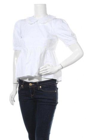 Дамска блуза New Look, Размер XS, Цвят Бял, Памук, Цена 25,50лв.