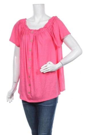 Дамска блуза New Look, Размер XXL, Цвят Розов, 50% памук, 50% модал, Цена 27,00лв.