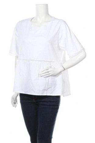 Γυναικεία μπλούζα Noisy May, Μέγεθος XL, Χρώμα Λευκό, Βαμβάκι, Τιμή 15,08€