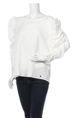 Γυναικεία μπλούζα Numph, Μέγεθος XL, Χρώμα Λευκό, 64% βισκόζη, 23% πολυαμίδη, 13% ελαστάνη, Τιμή 24,32€