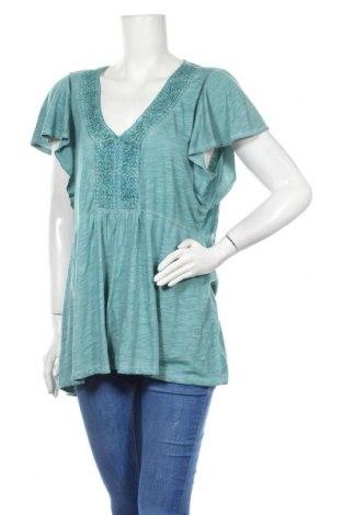 Дамска блуза One World, Размер XL, Цвят Зелен, 65% полиестер, 35% вискоза, Цена 9,45лв.