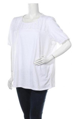 Дамска блуза Paola, Размер 3XL, Цвят Бял, 95% памук, 5% еластан, Цена 16,07лв.
