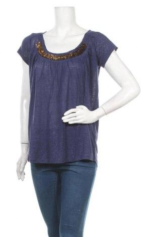 Γυναικεία μπλούζα, Μέγεθος L, Χρώμα Μπλέ, 100% λινό, Τιμή 4,82€