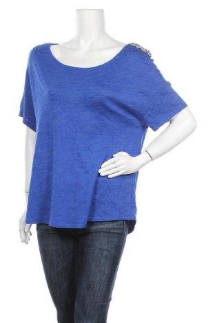 Дамска блуза Promod, Размер XL, Цвят Син, 50% вискоза, 35% памук, 15% полиестер, Цена 14,96лв.