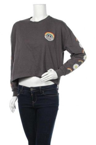 Γυναικεία μπλούζα Quiksilver, Μέγεθος M, Χρώμα Γκρί, Βαμβάκι, Τιμή 16,12€