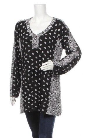 Γυναικεία μπλούζα Rockmans, Μέγεθος XL, Χρώμα Μαύρο, Βισκόζη, ελαστάνη, Τιμή 24,68€