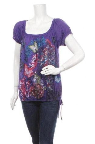 Γυναικεία μπλούζα Route 66, Μέγεθος XL, Χρώμα Βιολετί, 60% βαμβάκι, 40% πολυεστέρας, Τιμή 18,19€