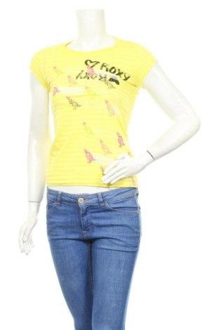 Γυναικεία μπλούζα Roxy, Μέγεθος S, Χρώμα Κίτρινο, 50% βαμβάκι, 50% βισκόζη, Τιμή 10,25€