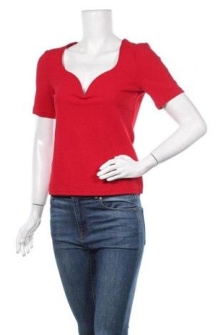 Дамска блуза SHEIN, Размер M, Цвят Червен, 95% полиестер, 5% еластан, Цена 8,93лв.
