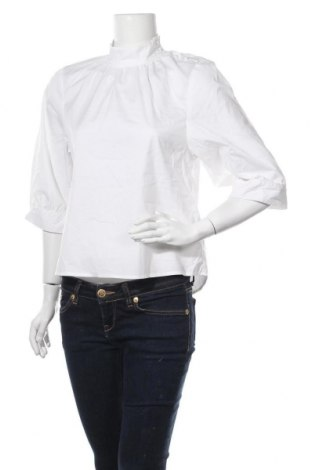 Дамска блуза Selected Femme, Размер S, Цвят Бял, 65% памук, 32% полиамид, 3% еластан, Цена 18,90лв.