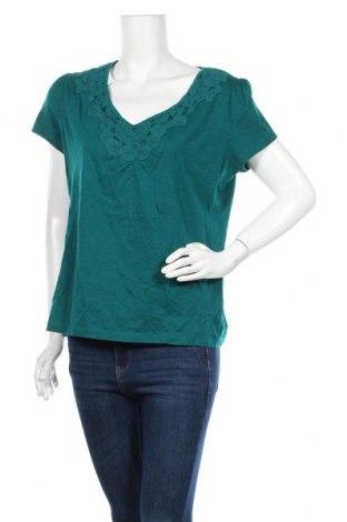Γυναικεία μπλούζα St. John's Bay, Μέγεθος L, Χρώμα Πράσινο, Βαμβάκι, Τιμή 4,97€