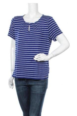 Дамска блуза Tahari, Размер L, Цвят Син, 95% вискоза, 5% еластан, Цена 16,07лв.