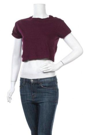 Γυναικεία μπλούζα Tally Weijl, Μέγεθος XS, Χρώμα Βιολετί, Βαμβάκι, Τιμή 8,64€