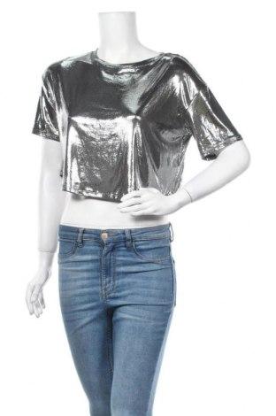 Γυναικεία μπλούζα Tally Weijl, Μέγεθος XS, Χρώμα Ασημί, Τιμή 11,11€