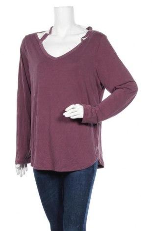 Γυναικεία μπλούζα Time and tru, Μέγεθος XL, Χρώμα Βιολετί, 71% μοντάλ, 29% πολυεστέρας, Τιμή 12,34€
