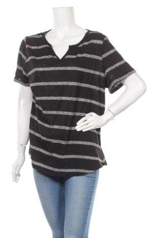 Γυναικεία μπλούζα Time and tru, Μέγεθος XXL, Χρώμα Μαύρο, 55% λινό, 45% πολυεστέρας, Τιμή 11,04€