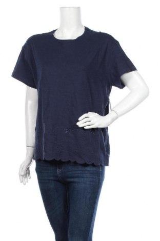 Γυναικεία μπλούζα Time and tru, Μέγεθος L, Χρώμα Μπλέ, Βαμβάκι, Τιμή 22,83€