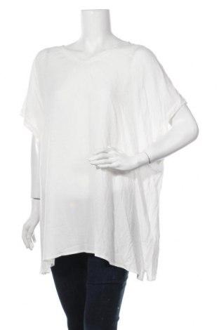 Γυναικεία μπλούζα Ulla Popken, Μέγεθος XXL, Χρώμα Λευκό, Βισκόζη, Τιμή 7,27€