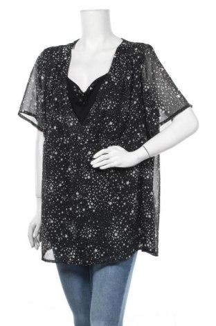 Γυναικεία μπλούζα Ulla Popken, Μέγεθος XXL, Χρώμα Μαύρο, Πολυεστέρας, Τιμή 10,49€
