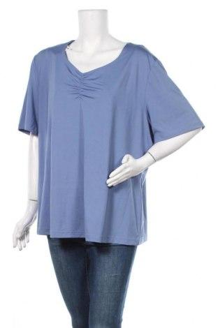 Γυναικεία μπλούζα Ulla Popken, Μέγεθος XXL, Χρώμα Μπλέ, 95% πολυεστέρας, 5% ελαστάνη, Τιμή 6,17€