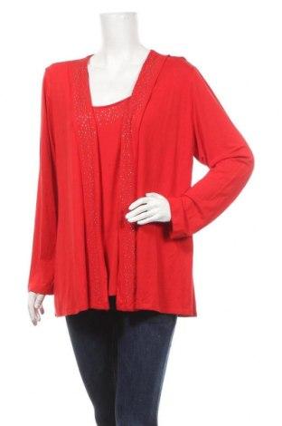 Γυναικεία μπλούζα Ulla Popken, Μέγεθος XL, Χρώμα Κόκκινο, 95% βισκόζη, 5% ελαστάνη, Τιμή 10,52€