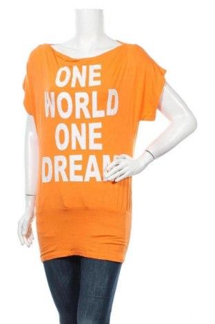 Γυναικεία μπλούζα Vert De Rage, Μέγεθος M, Χρώμα Πορτοκαλί, 90% βισκόζη, 10% ελαστάνη, Τιμή 3,41€