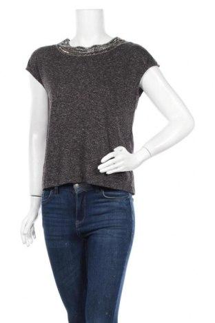 Дамска блуза Vila, Размер XS, Цвят Сив, 85% полиестер, 15% лен, Цена 16,80лв.