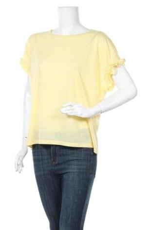 Дамска блуза Vila, Размер XL, Цвят Жълт, 20% лен, 80% полиестер, Цена 27,30лв.