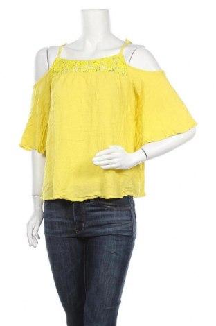 Γυναικεία μπλούζα Yessica, Μέγεθος M, Χρώμα Κίτρινο, Βισκόζη, Τιμή 9,74€