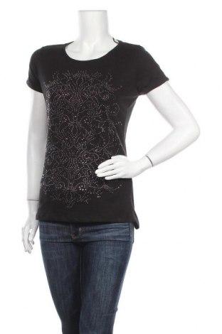Γυναικεία μπλούζα Yessica, Μέγεθος XS, Χρώμα Μαύρο, 50% βαμβάκι, 50% πολυεστέρας, Τιμή 12,34€