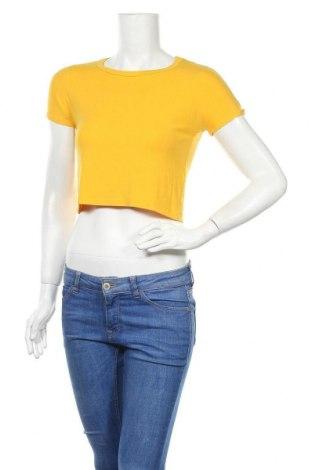 Γυναικεία μπλούζα Zara Trafaluc, Μέγεθος M, Χρώμα Κίτρινο, 95% βισκόζη, 5% ελαστάνη, Τιμή 14,62€