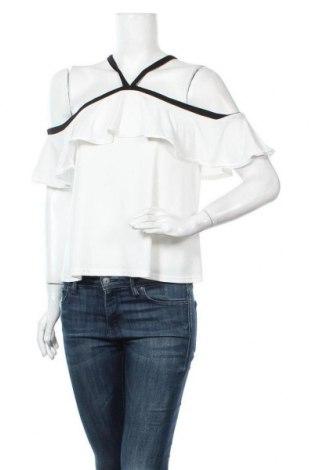 Дамска блуза Zebra, Размер S, Цвят Бял, 90% полиестер, 10% еластан, Цена 16,80лв.