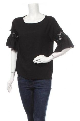 Дамска блуза Zebra, Размер M, Цвят Черен, Полиестер, Цена 5,36лв.