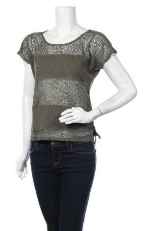 Дамска блуза Zebra, Размер S, Цвят Зелен, Памук, полиестер, еластан, Цена 9,45лв.