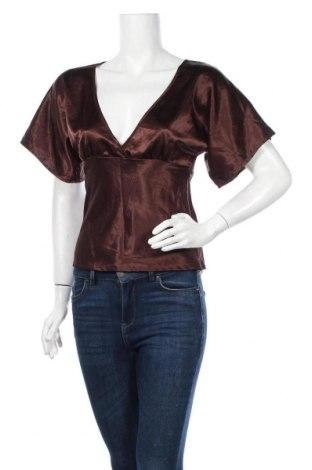 Дамска блуза Zebra, Размер S, Цвят Кафяв, 97% полиестер, 3% еластан, Цена 9,45лв.