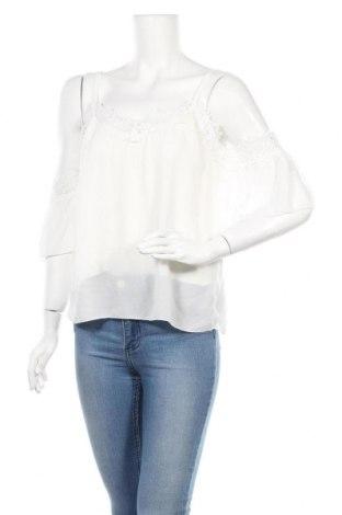 Дамска блуза Zebra, Размер XS, Цвят Бял, 50% полиестер, 45% вискоза, 5% еластан, Цена 15,12лв.