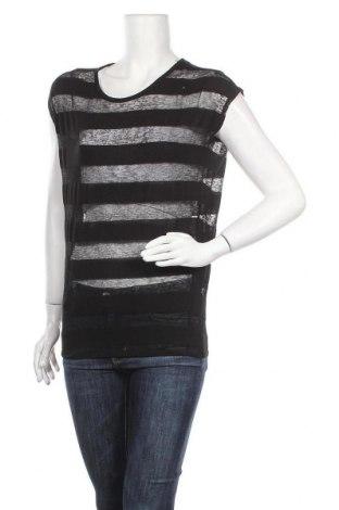Дамска блуза Zebra, Размер XS, Цвят Черен, 55% полиестер, 45% вискоза, Цена 12,60лв.