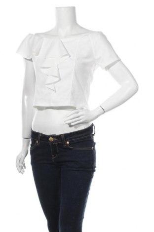 Дамска блуза Zebra, Размер L, Цвят Бял, 95% полиестер, 5% еластан, Цена 14,28лв.