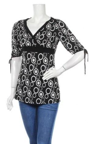 Дамска блуза Zebra, Размер L, Цвят Черен, 90% полиестер, 10% еластан, Цена 17,01лв.