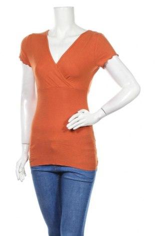 Дамска блуза Zebra, Размер M, Цвят Оранжев, 95% вискоза, 5% еластан, Цена 17,01лв.