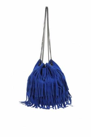 Дамска чанта, Цвят Син, Естествен велур, Цена 49,56лв.