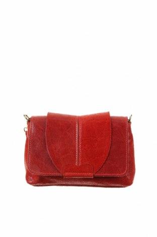 Дамска чанта, Цвят Червен, Естествена кожа, Цена 36,75лв.