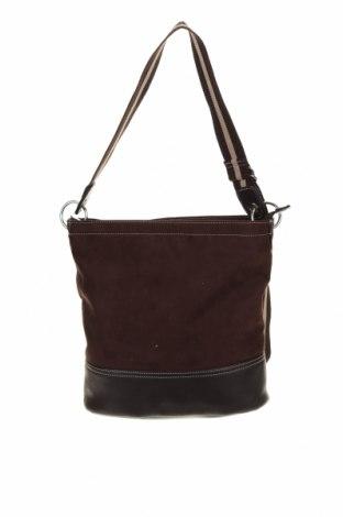 Дамска чанта, Цвят Кафяв, Текстил, еко кожа, Цена 16,80лв.