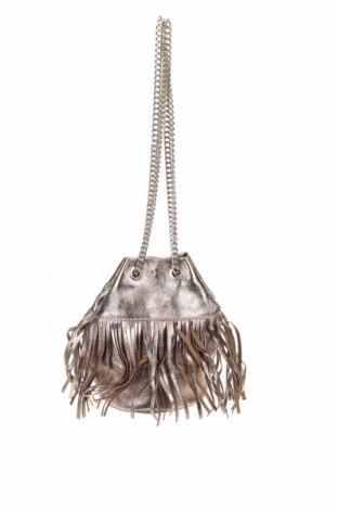 Дамска чанта, Цвят Златист, Естествена кожа, Цена 51,03лв.