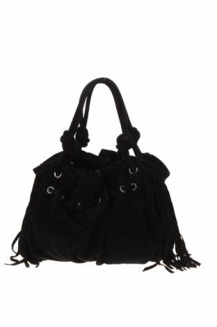 Дамска чанта Blumarine, Цвят Черен, Естествен велур, Цена 206,64лв.