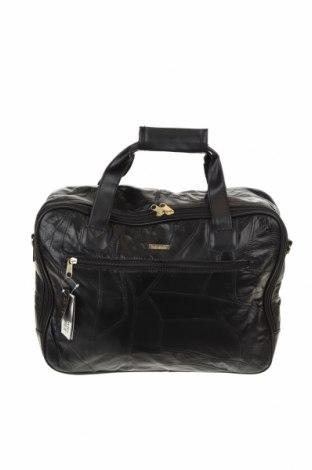 Дамска чанта Carla Faustini, Цвят Черен, Еко кожа, Цена 19,43лв.