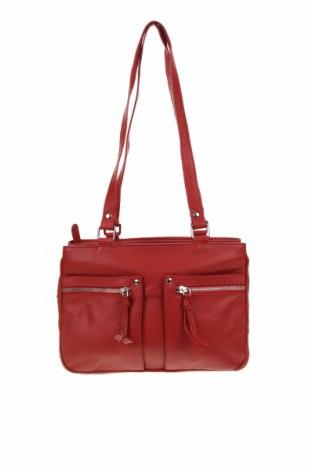 Дамска чанта Gabee, Цвят Червен, Естествена кожа, Цена 60,90лв.